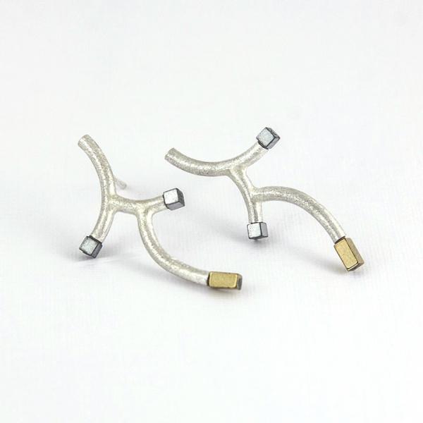 Earrings- small twigs.