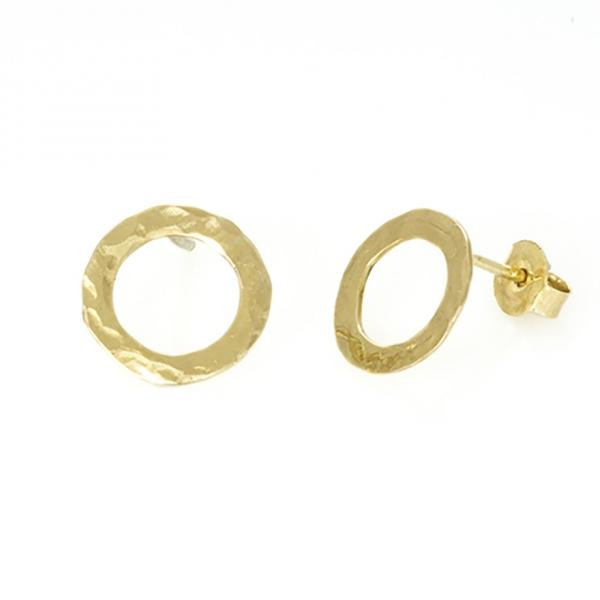 złote kolczyki kręgi, ja. jabłońska biżuteria