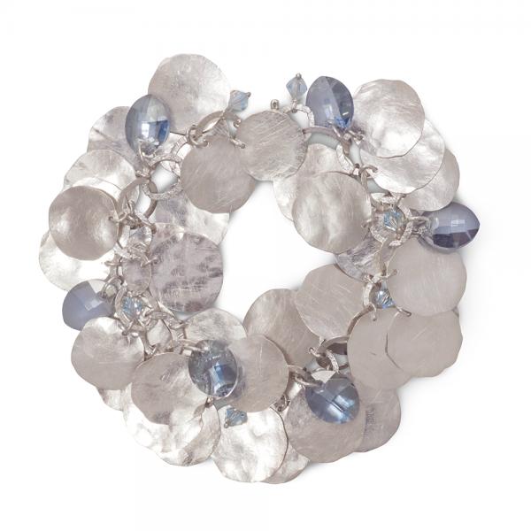 srebrna bransoletka, grono, ja. jabłońska biżuteria