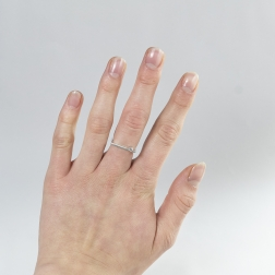 Diamond and square delicacy of white gold.