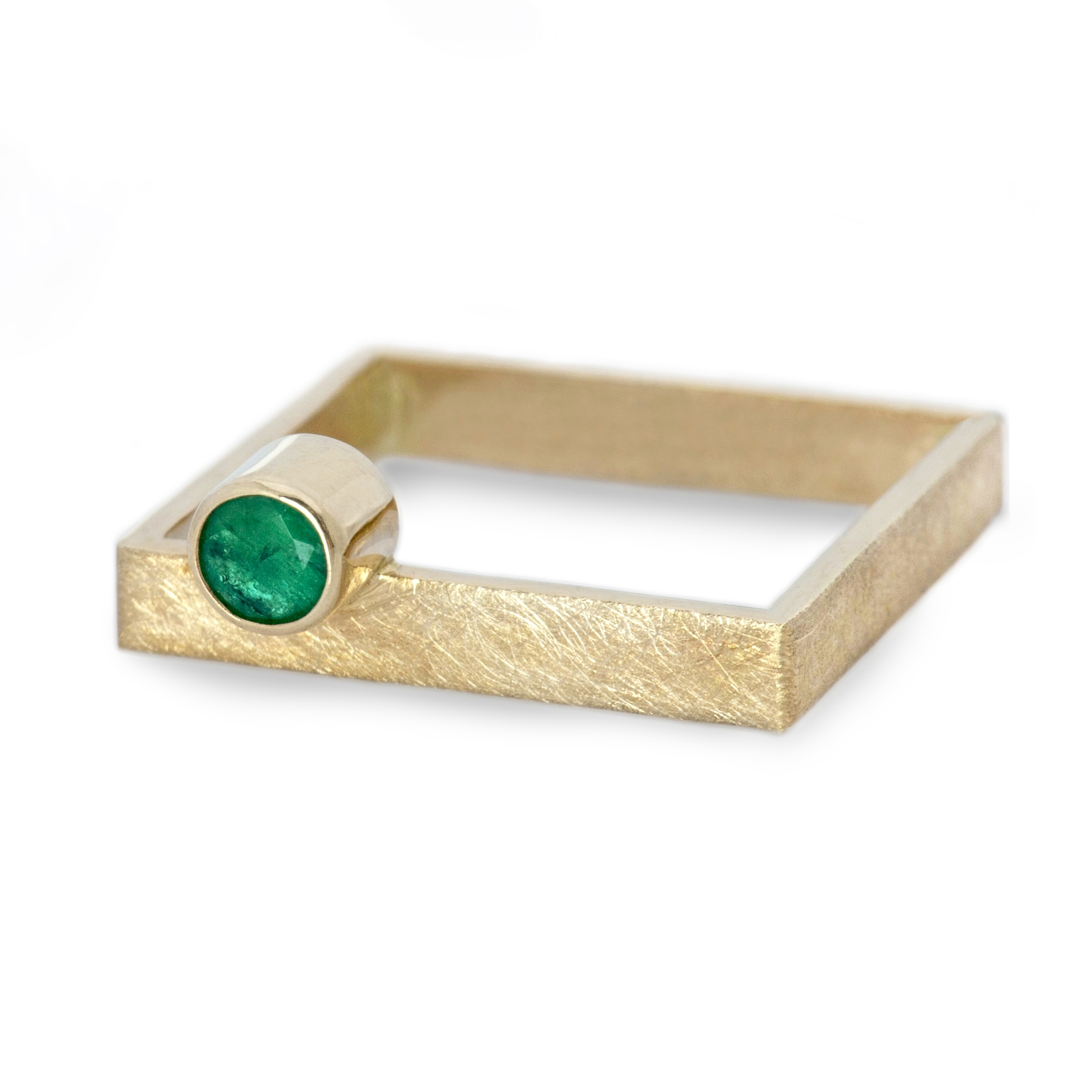 emerald on a gold square