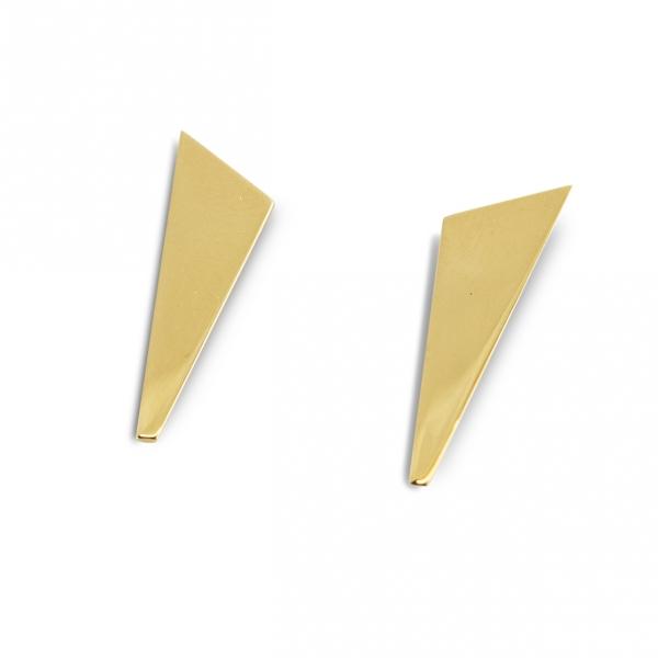 prawie trójkątne, złote kolczyki