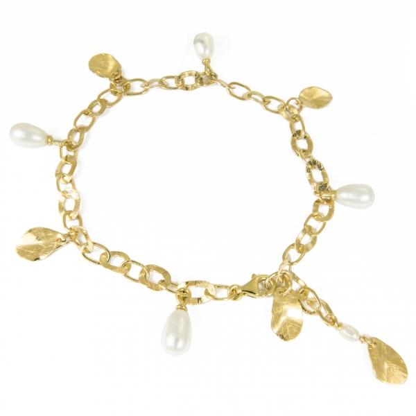 Bransoletka ze złota z perłami Drżenie blasku