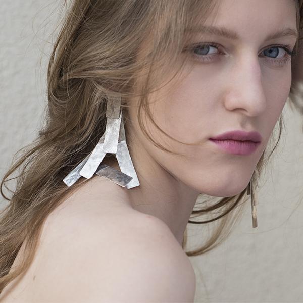 UNRULY silver earrings