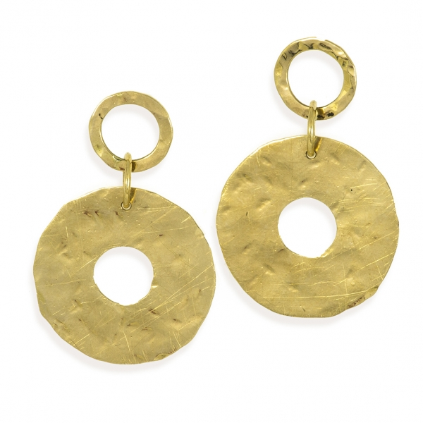 gold circles earrings