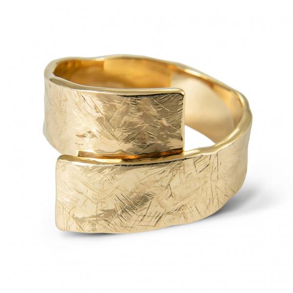 złoty pierścionek ZŁOTA TAŚMA