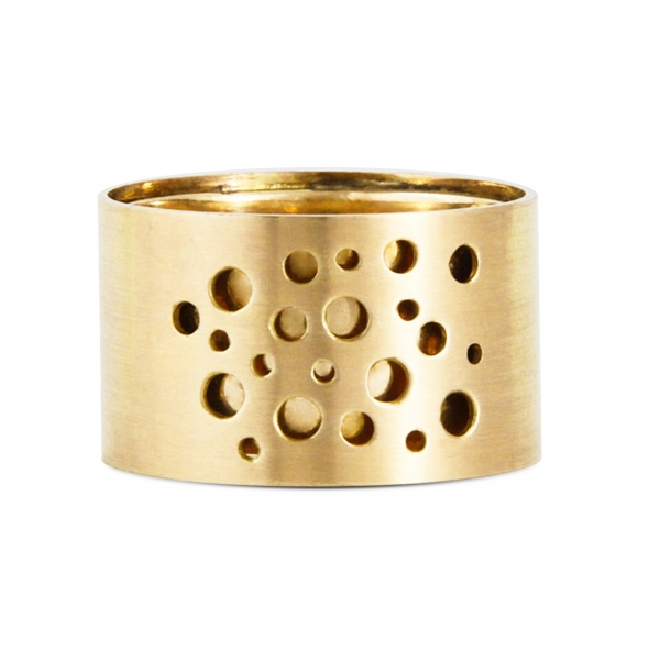 double gold band- perforated