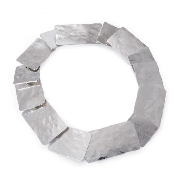 Segmentowa bransoletka ze srebra