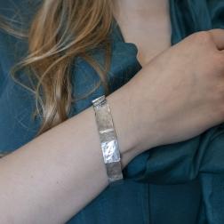 Silver segmented bracelet