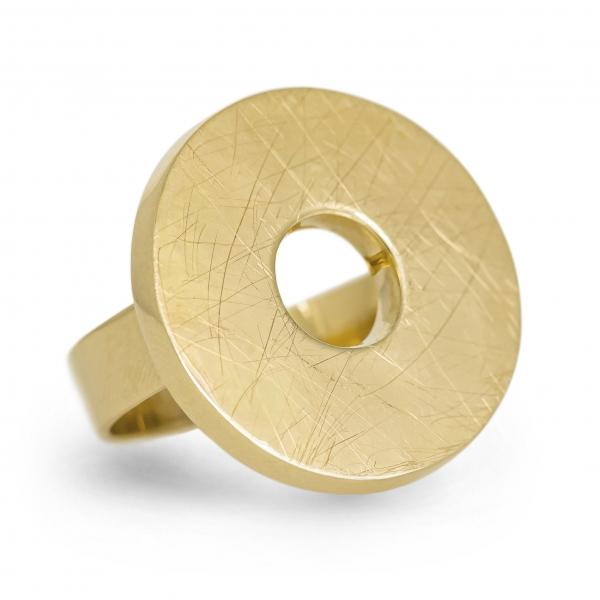 złoty pierścionek, złoty krąg, ja. jabłońska bizuteria