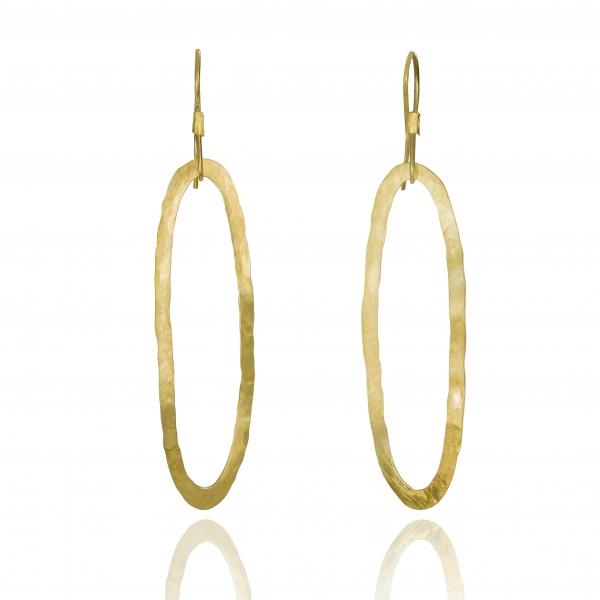 oval gold earrings