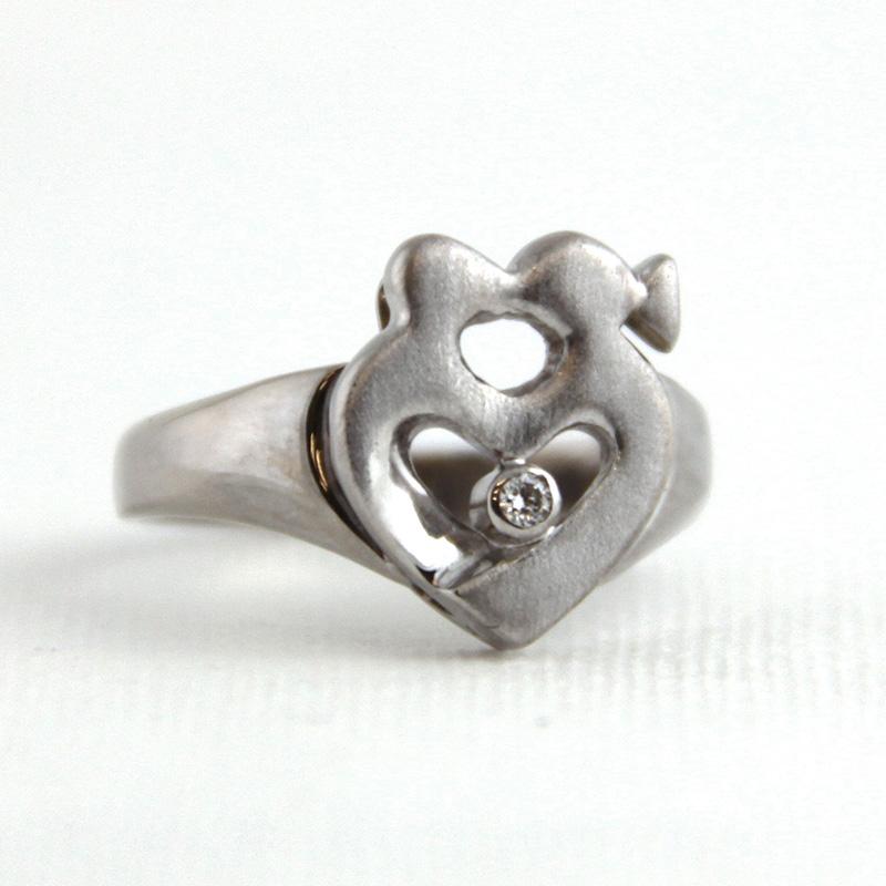 pierścionek zaręczynowy, białe złoto, brylant, ja. jabłońska biżuteria